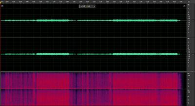 合成後の波形 320kbps