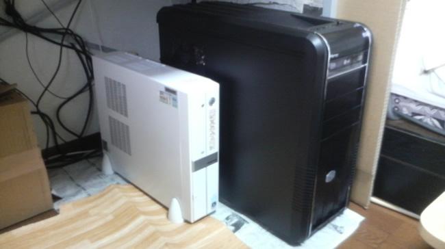 新しいパソコンの様子