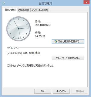 日時と時刻