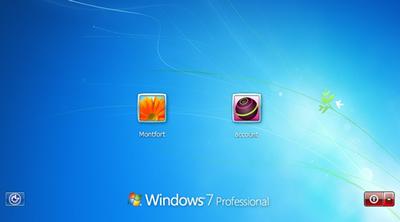 Windows7のログイン画面